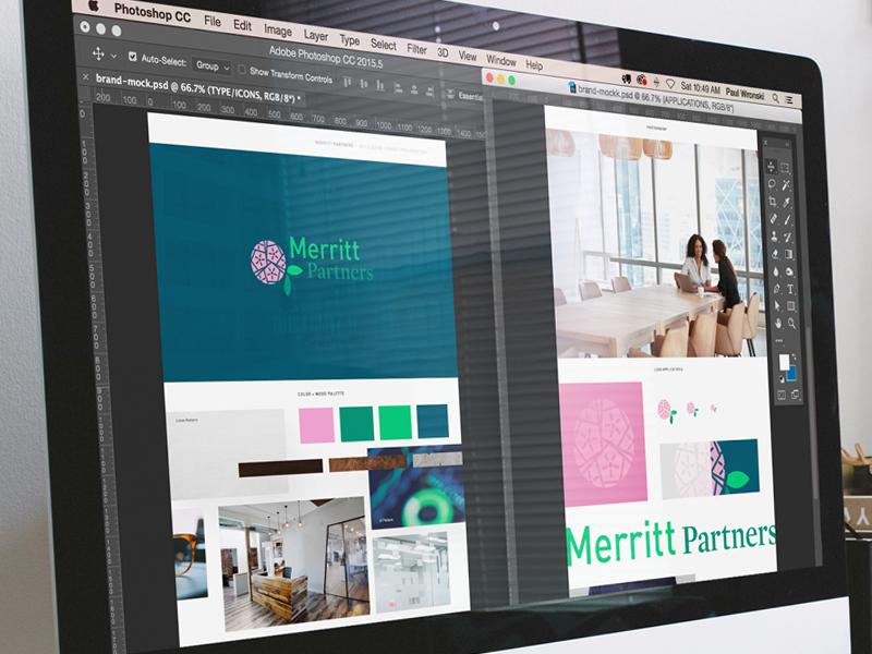 Brand Style Sheet style book style logo ct merritt flower investments branding