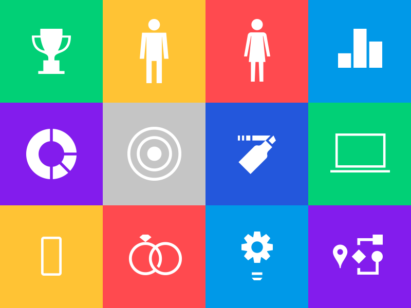 Icon Set 1-color business simple library set icons