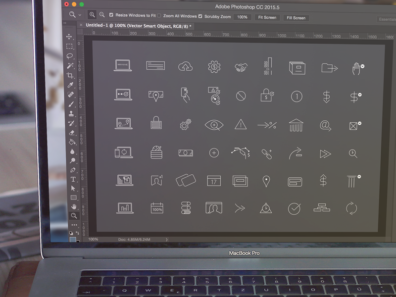 Wireframe icons mock
