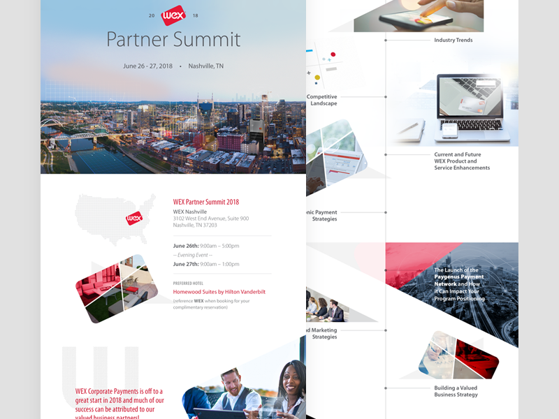 Partner Summit evite payments corporate b2b partner invitation meeting
