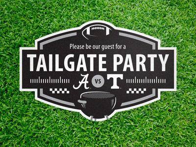 Tailgate Invite corporate graphic invitation tailgate sports logo