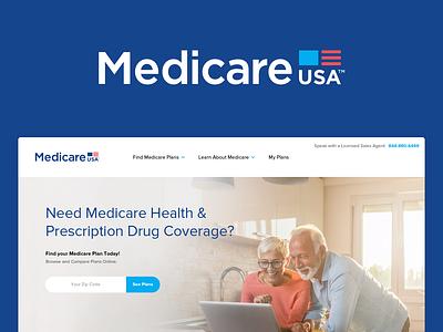 Medicare/Shopping Site Identity branding identity logo medicare website healthcare