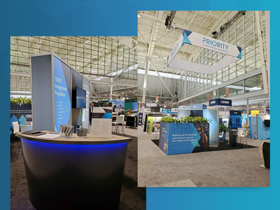 Priority CPX Exhibit Booth exhibition booth design trade show exhibit booth tradeshow booth