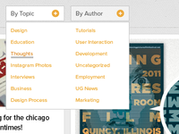 UG Blog Dropdown