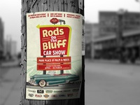 Rods on the Bluff Car Show Poster