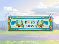 License plate Rebound