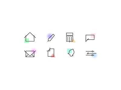 Icon Set visual designer ui adobexd adobe icondesign iconography icon