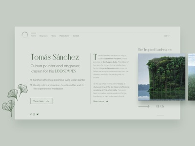 The Tropical Landscapes Web Layout Concept tropical clean ui brand identity website web minimal typography ux ui design