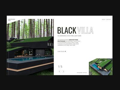 Black Villa - Reza Mohtashami Architect minimal website projects typography website design ux homepage slider ui ui architecture website architecture webdesign