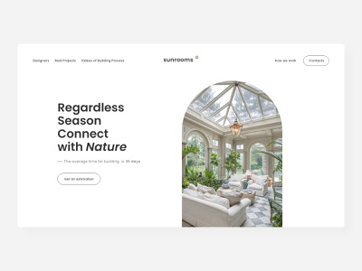 Layout concept for Orangery Designers interior clean ui whitespace clean minimal website ux ui design