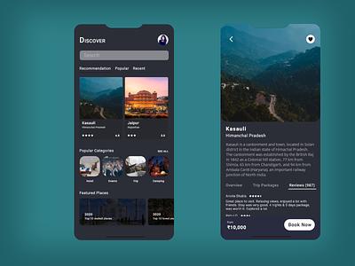 Travel App mobile minimal ux ui design