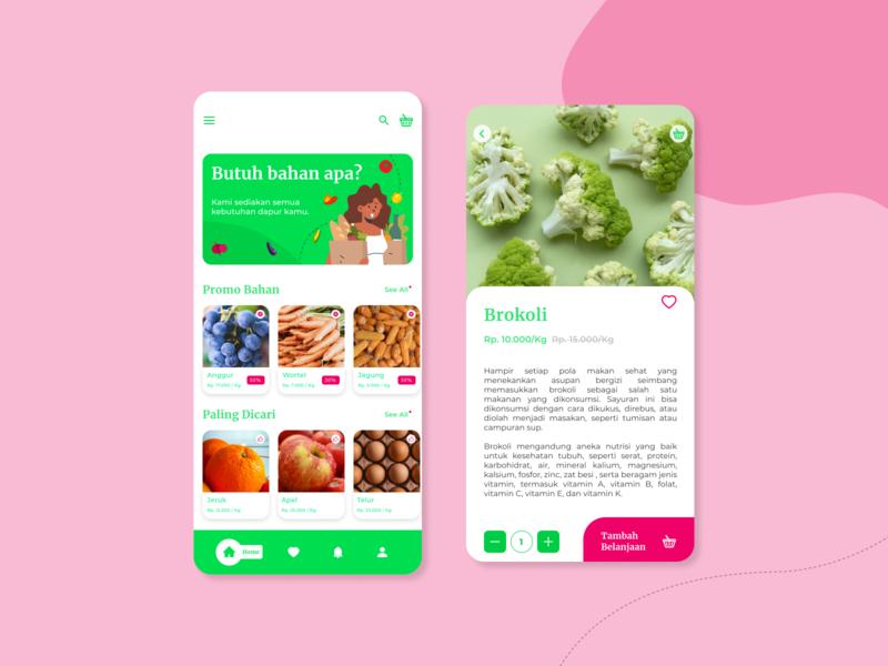 Online Ingredients Store App Concept online store ingredients ui ux mobile ui mobile app design mobile app design app design app
