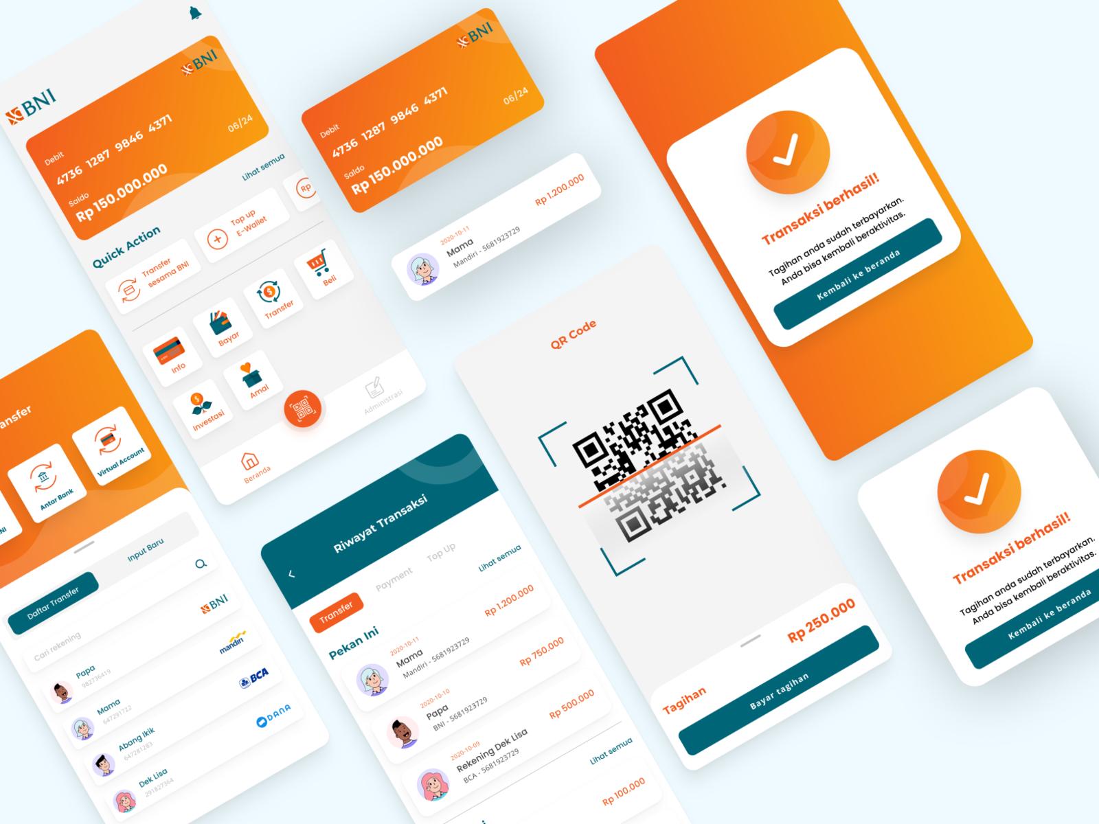 BNI Mobile Banking Redesign Concept by Rifki Akbar on Dribbble