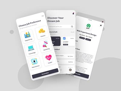 Job Finder App Design Concept mobile app mobile app concept ux ui app design job vacant job vacancies job finder job
