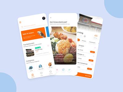 UI Design Exploration   Food Apps exploration food recommendation food mobile app design ui mobile app app design ux