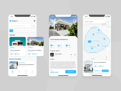 Real Estate Mobile App Design Concept mobile app design design mobile ui app design ios app design ios ux property marketing properties property