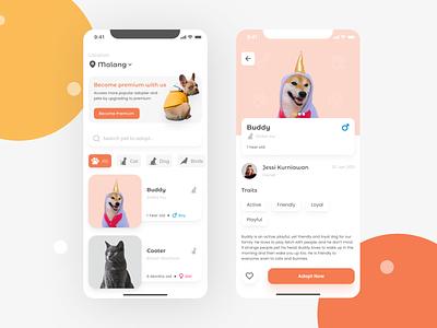 Pet Adoption - Mobile App mobile app design mobile app ios uiux ui adoption pet
