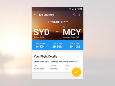 Airport app native android material design ux ui
