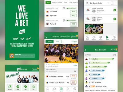 Tab 9.3 Release racing horse racing speedmaps nba sports ios10 ios ui ux