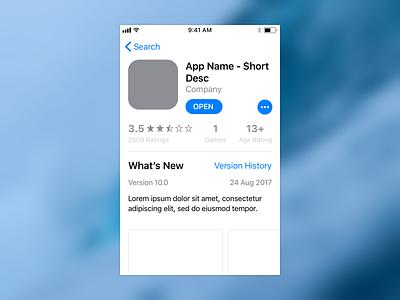 App Store iOS 11 sketch download freebie ios 11 app store