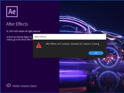 3d Module Missing Error Fix cant open after after effects opening problem after effects startup error how to fix during application startup unexpected failure standard 3d module is missing