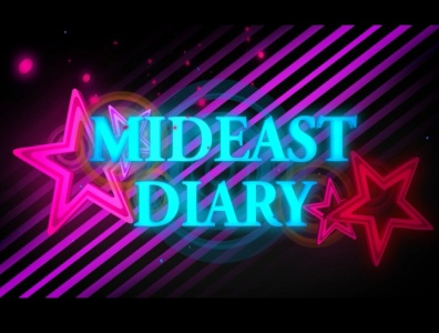 Mideast Diary middle east diary mideast diary middle east road trip travel vlogger motion graphics ident channel tv video opener filler title animation 3dsmax 3d after effect cinema 4d