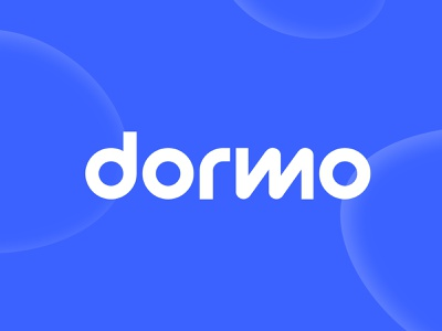 Dormo blue colorful typedesign brand identity branding