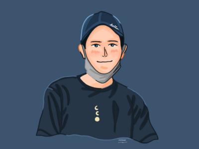 Young illustration draw digital