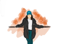 Nessieee ☠️ illustration unique draw digital
