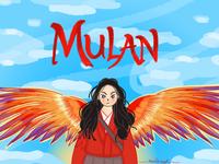 Hua Mulan draw digitalart mulan fanart design illustration
