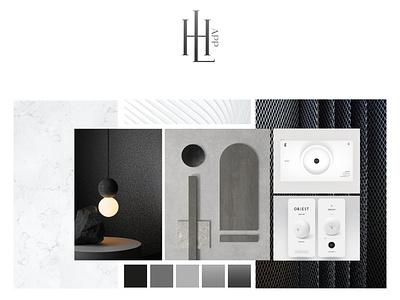 Hi Living moodboard branding concept identity system logo identity brand design identidade visual identity branding moodboard branding design