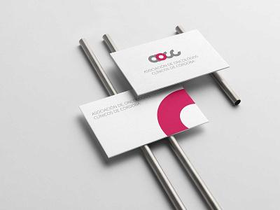 Aocc, Asociación de oncólogos clínicos de Córdoba personal card branding concept brand design branding merchandise design identity system identidade visual identity branding logo identity design