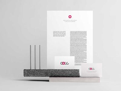 Aocc, Asociación de oncólogos clínicos de Córdoba branding concept personal card brand design identity system identidade visual identity branding logo identity branding design