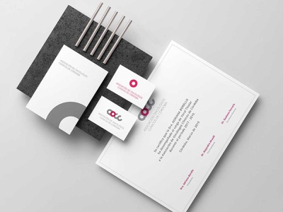 Aocc, Asociación de oncólogos clínicos de Córdoba personal card branding concept brand design identity system identidade visual identity branding logo identity branding design