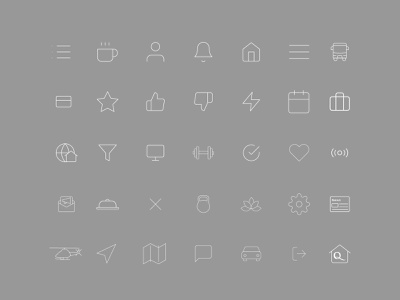 Set de iconos vector illustration icons pack iconset iconography icons