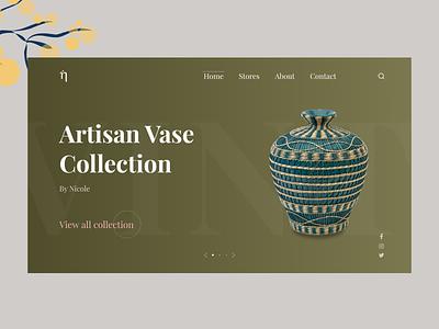 Home Decor Website Design web design vase concept website design desktop design interface uidesigner branding uiux ecommerce minimal design adobexd uidesign