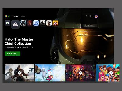 Xbox gaming UI design xbox figmadesign uidesigner uiux interface design uidesign