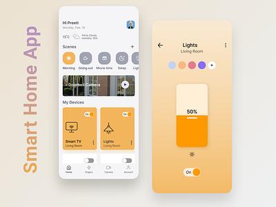 Smart Home App Design ux design home app home automation app design smart home uiux design uidesign