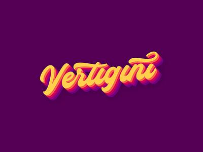 Vertigini 70s musician disco music soul funky funk lettering logotype branding logo