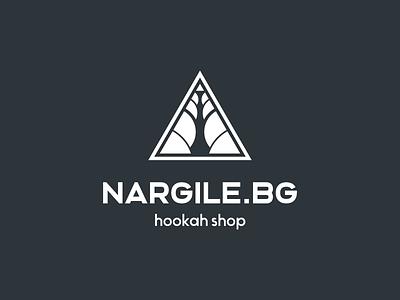 NARGILE.bg lounge shisha geometric tobacco smoke nargile hookah logotype branding logo