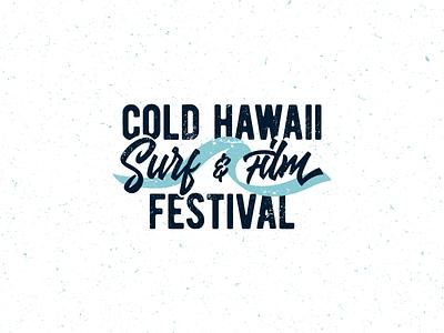 Cold Hawaii typography design branding logo film festival surfing surf