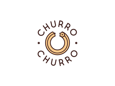 Churro Churro minimalistic churros churro food branding logo