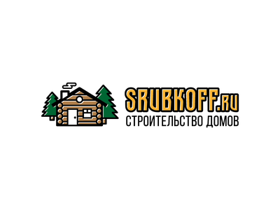 Srubkoff branding logo wooden wood
