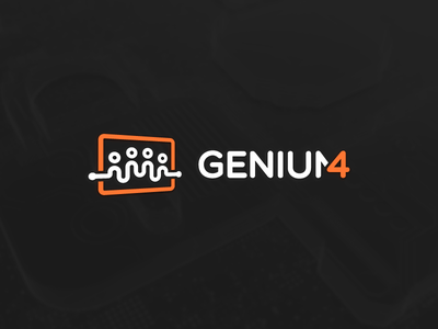 Genium4 logo circuit board circuit it cybersecurity cyber logotype branding logo