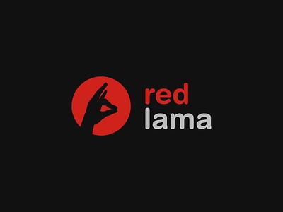 red lama logotype branding logo agency advertising
