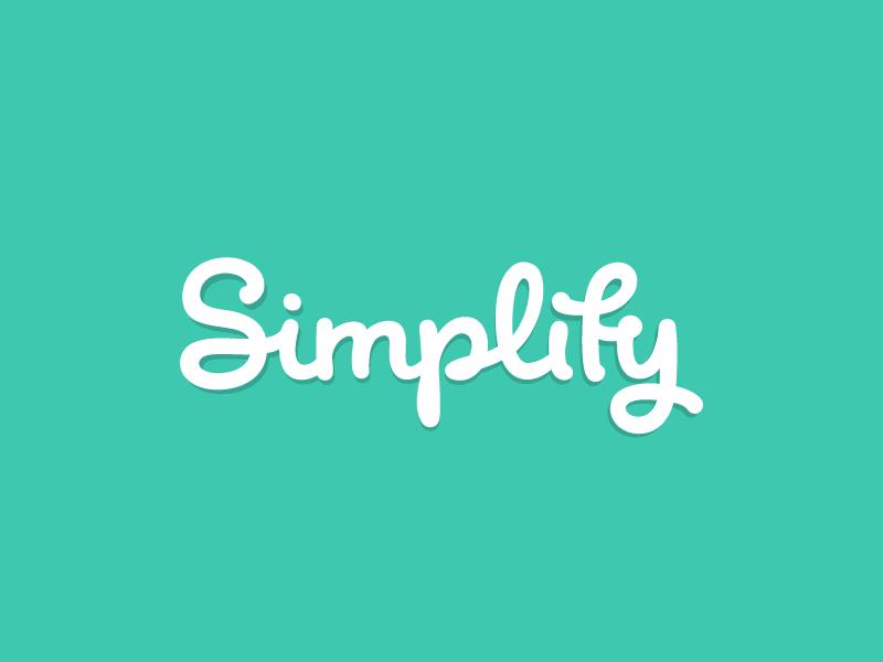 Simplify handwritten handlettering handtype handwriting lettering logotype design branding logo