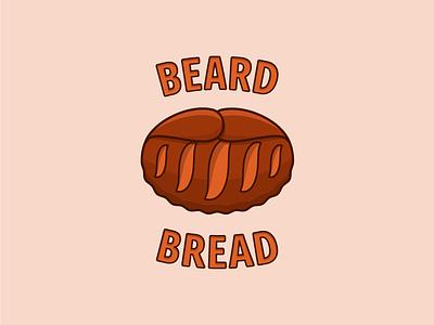Beard Bread | Unused brand for sale vector design sale men baker beard oil bakery bearded beard bread food illustration unused for sale brand identity logotype logo branding