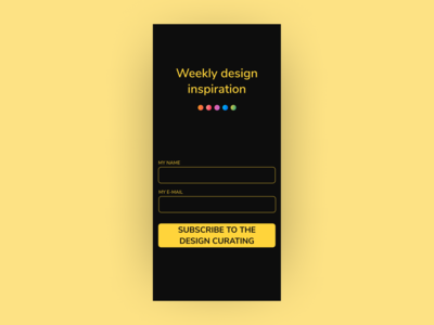 Daily UI | Challenge #1 | Sign Up