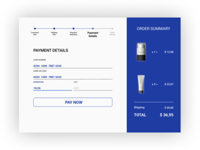 Daily UI | Challenge #2 | Credit Card Checkout