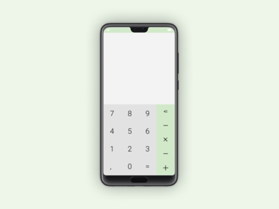 Daily UI | Challenge #4 | Calculator